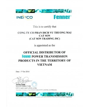 FENNER Authorized Certificate