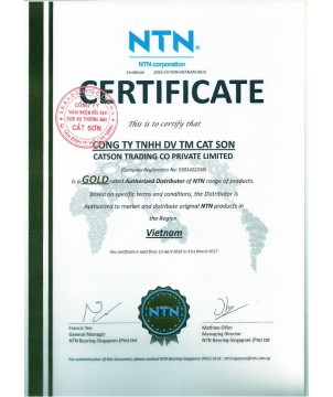 NTN Authorized Certificate